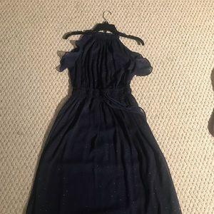 Michael Kors halter neck midnight blue dress